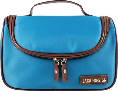 Jacki Design Essential Travel Cosmetic Bag with Hanger Blue - Jacki Design Toiletry Kits