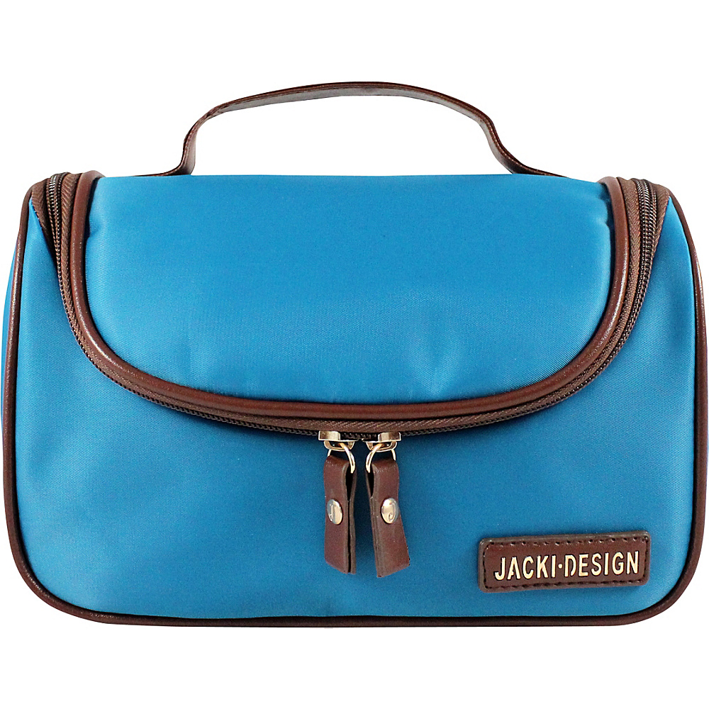 Jacki Design Essential Travel Cosmetic Bag with Hanger Blue Jacki Design Toiletry Kits
