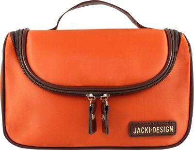 Jacki Design Essential Travel Cosmetic Bag with Hanger Orange - Jacki Design Toiletry Kits
