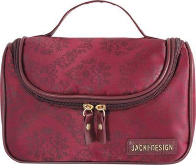 Jacki Design New Essential Travel Bag with Hanger Burgundy - Jacki Design Toiletry Kits