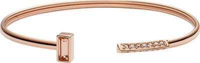 Fossil Open Flex Cuff Rose Gold - Fossil Jewelry