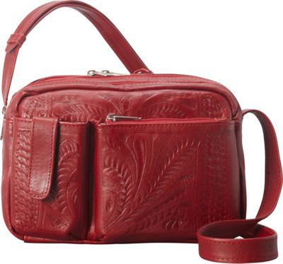 Ropin West Crossover Purse Red - Ropin West Leather Handbags