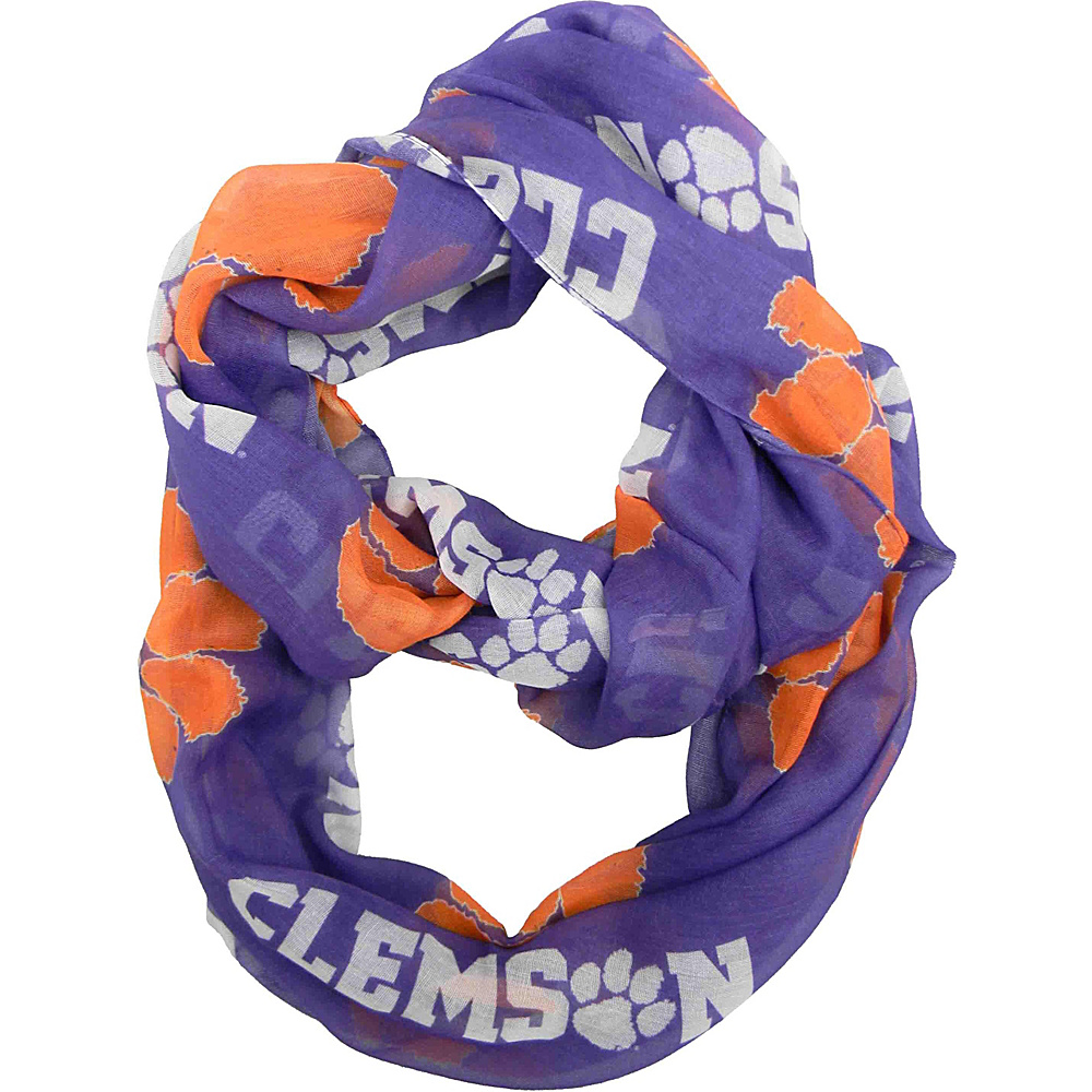 Littlearth Sheer Infinity Scarf - AAC Teams Clemson University - Littlearth Hats/Gloves/Scarves - Fashion Accessories, Hats/Gloves/Scarves