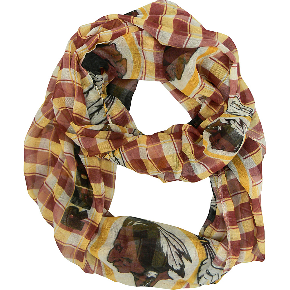 Littlearth Sheer Infinity Scarf Plaid - NFL Teams Washington Redskins - Littlearth Hats/Gloves/Scarves - Fashion Accessories, Hats/Gloves/Scarves