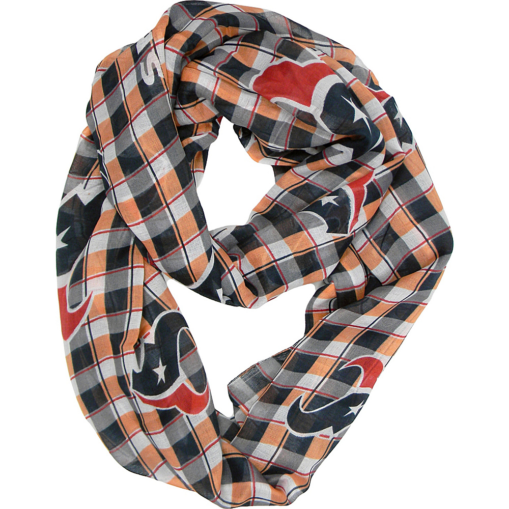 Littlearth Sheer Infinity Scarf Plaid - NFL Teams Houston Texans - Littlearth Hats/Gloves/Scarves - Fashion Accessories, Hats/Gloves/Scarves