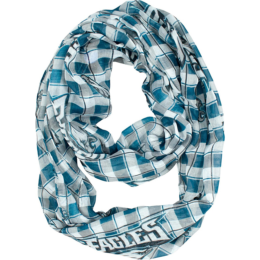 Littlearth Sheer Infinity Scarf Plaid - NFL Teams Philadelphia Eagles - Littlearth Hats/Gloves/Scarves - Fashion Accessories, Hats/Gloves/Scarves