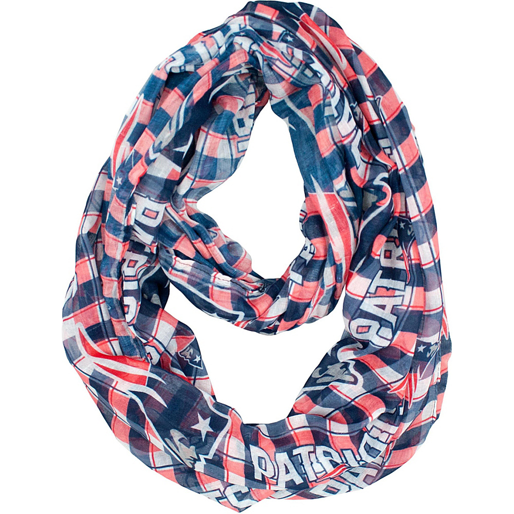 Littlearth Sheer Infinity Scarf Plaid - NFL Teams New England Patriots - Littlearth Hats/Gloves/Scarves - Fashion Accessories, Hats/Gloves/Scarves