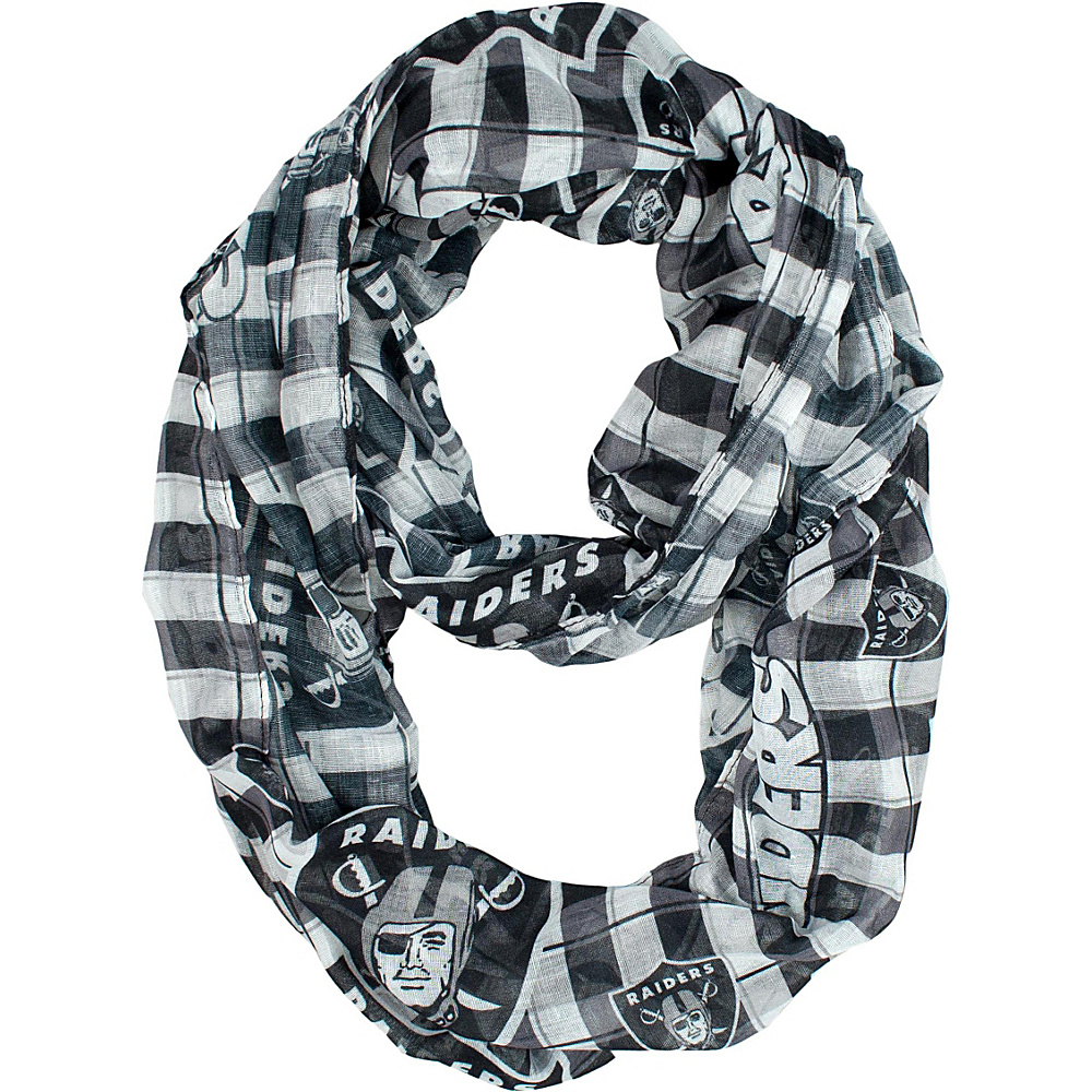 Littlearth Sheer Infinity Scarf Plaid - NFL Teams Oakland Raiders - Littlearth Hats/Gloves/Scarves - Fashion Accessories, Hats/Gloves/Scarves