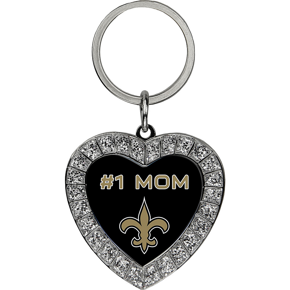 Luggage Spotters NFL New Orleans Saints #1 Mom Rhinestone Key Chain Black - Luggage Spotters Women's SLG Other