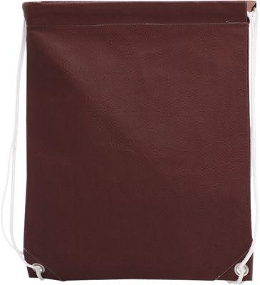 Zumer Football Drawstring Bag Football Brown - Zumer Everyday Backpacks