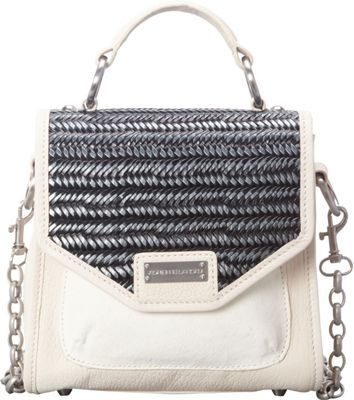 Adrienne Landau Ibiza Mini Tribeca Satchel White - Adrienne Landau Leather Handbags