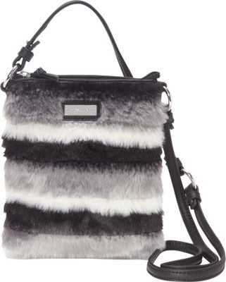 Adrienne Landau Striped Crossbody Black Striped - Adrienne Landau Leather Handbags