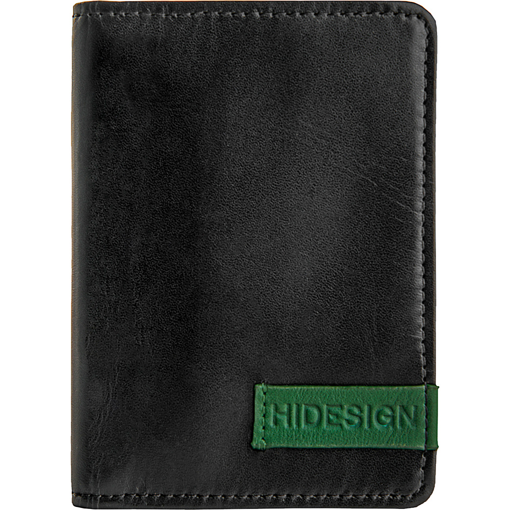 Hidesign Dylan Leather Slim Card Holder with ID Compartment Black Hidesign Business Accessories
