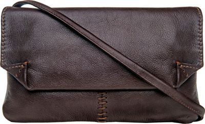 Hidesign Stitch Leather Handcrafted Cross Body Brown - Hidesign Leather Handbags