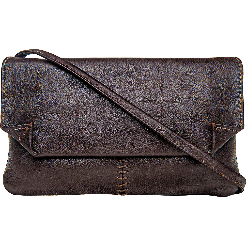 Hidesign Stitch Leather Handcrafted Cross Body Brown Hidesign Leather Handbags