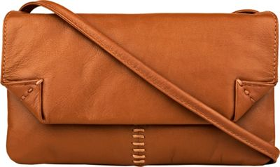 Hidesign Stitch Leather Handcrafted Cross Body Tan - Hidesign Leather Handbags