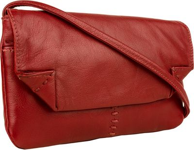 Hidesign Stitch Leather Handcrafted Cross Body Red - Hidesign Leather Handbags