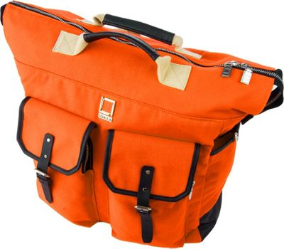 Lencca Lencca Phlox 3-in-1 Backpack Messenger Tote Bag Orange - Lencca Business & Laptop Backpacks