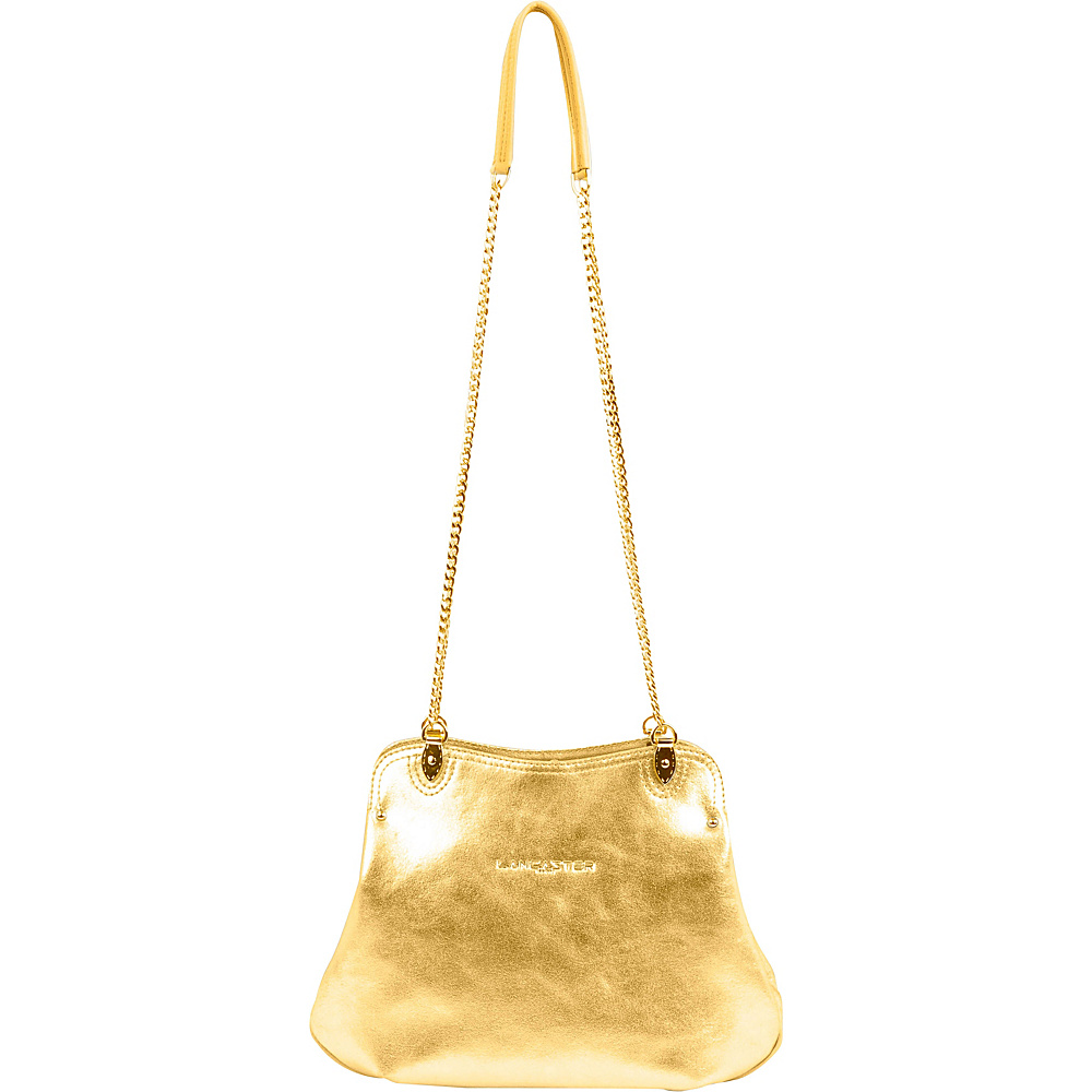 Lancaster Paris Ines Coin Pocket Bag Gold Doree Lancaster Paris Leather Handbags