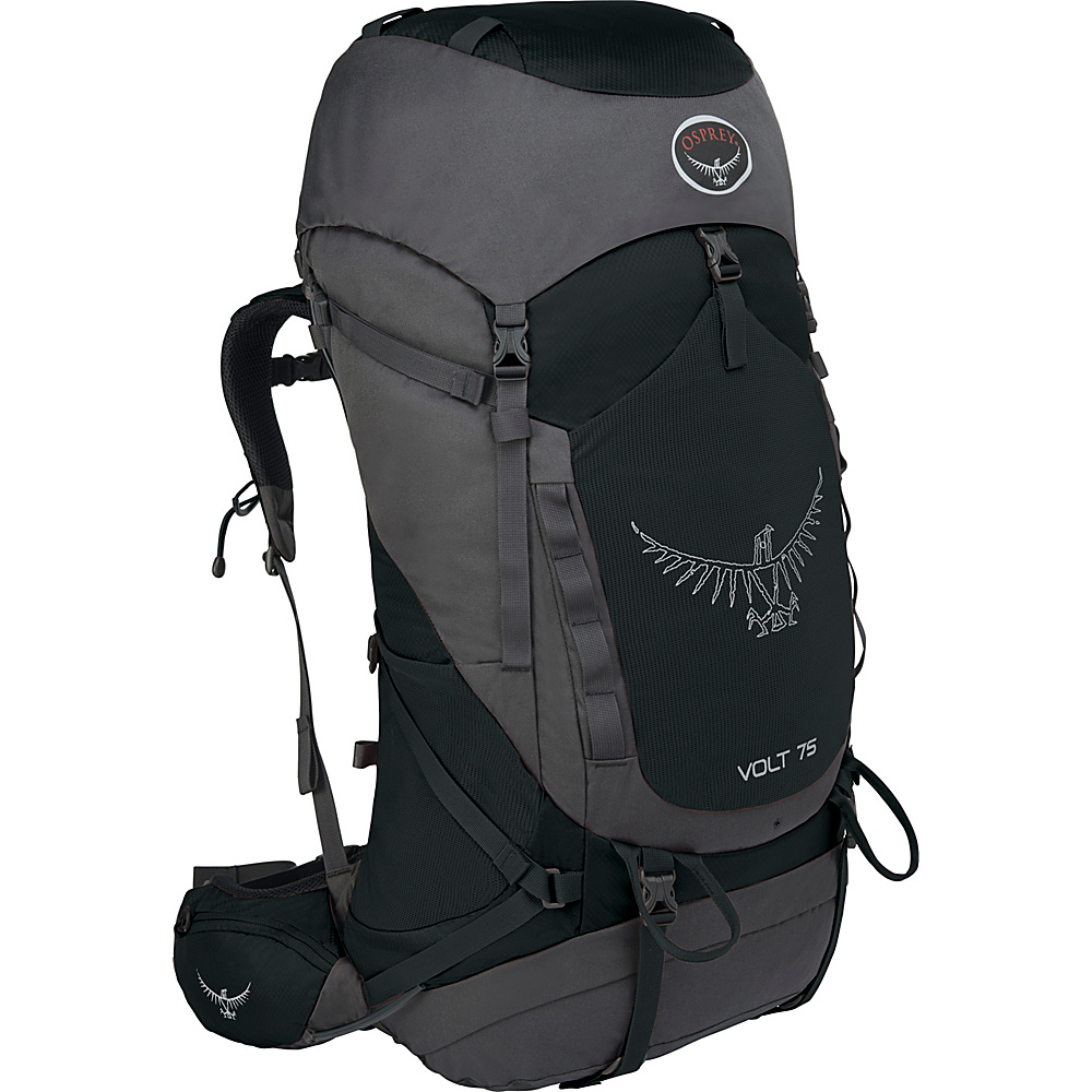 Osprey Volt 75 Hiking Backpack Tar Black - Osprey Backpacking Packs - Outdoor, Backpacking Packs