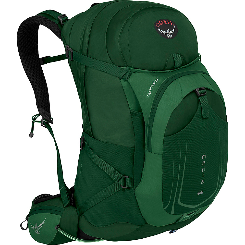 Osprey Manta AG 36 Hiking Pack Spruce Green - S/M - Osprey Day Hiking Backpacks - Outdoor, Day Hiking Backpacks
