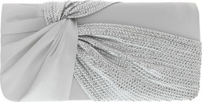 Nina Handbags Helma Twisted Sash Clutch Silver - Nina Handbags Evening Bags