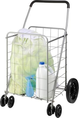 Honey-Can-Do Dual Wheel Utility Cart grey - Honey-Can-Do Luggage Accessories