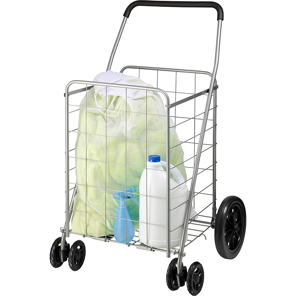 Honey Can Do Dual Wheel Utility Cart grey Honey Can Do Luggage Accessories