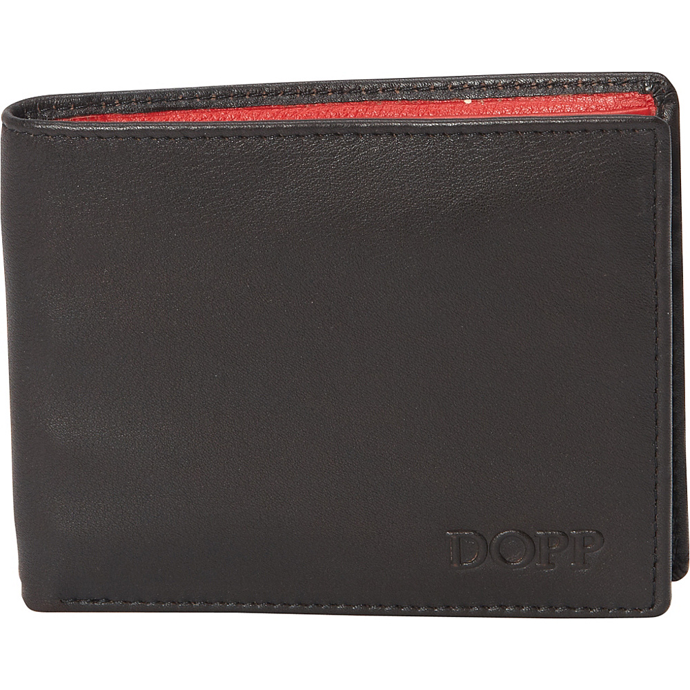 Dopp Tribeca RFID Slimfold Espresso w Red Dopp Men s Wallets