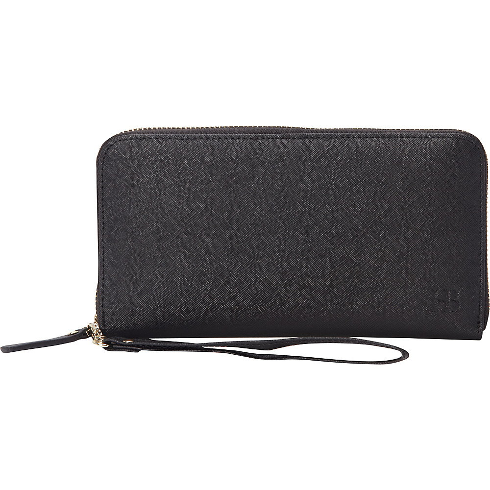 HButler The Mighty Purse Phone Charging Zipper Wallet Black - HButler Women's Wallets