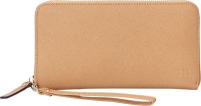 HButler The Mighty Purse Phone Charging Zipper Wallet Tan - HButler Women's Wallets