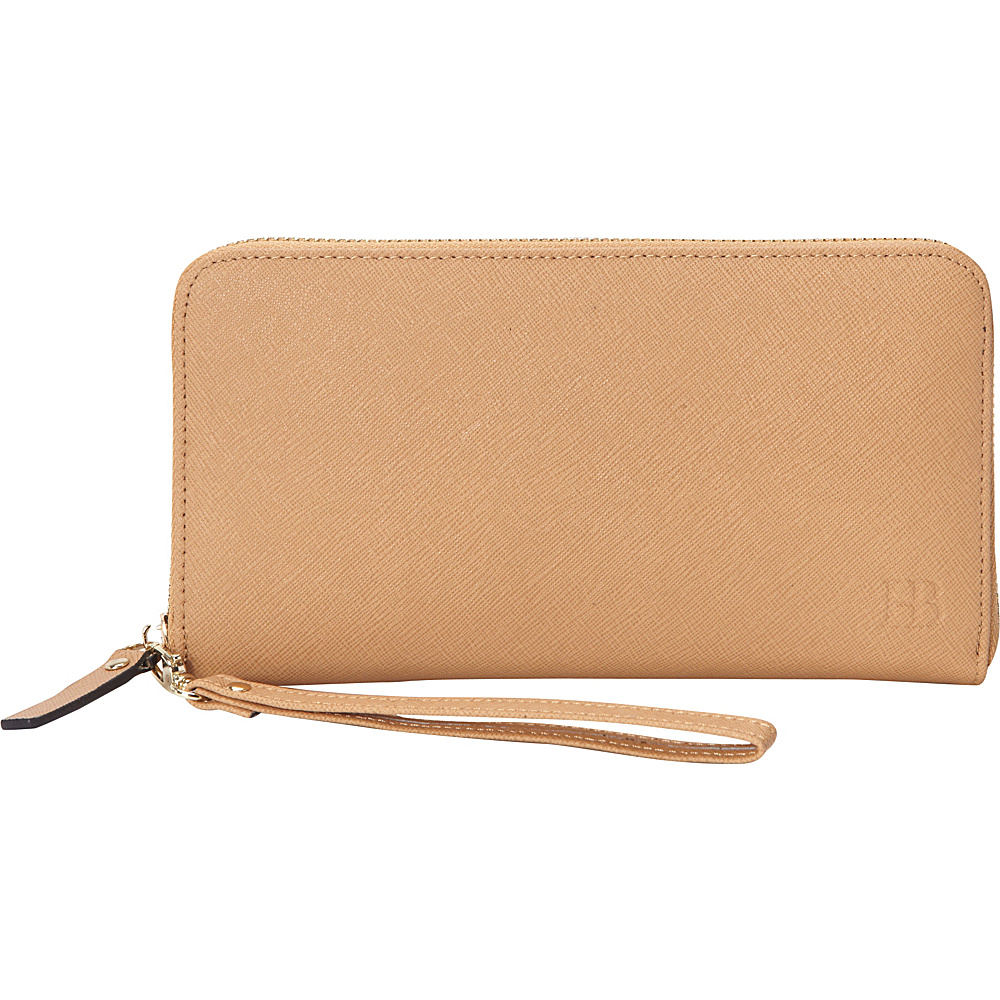 HButler The Mighty Purse Phone Charging Zipper Wallet Tan - HButler Women's Wallets