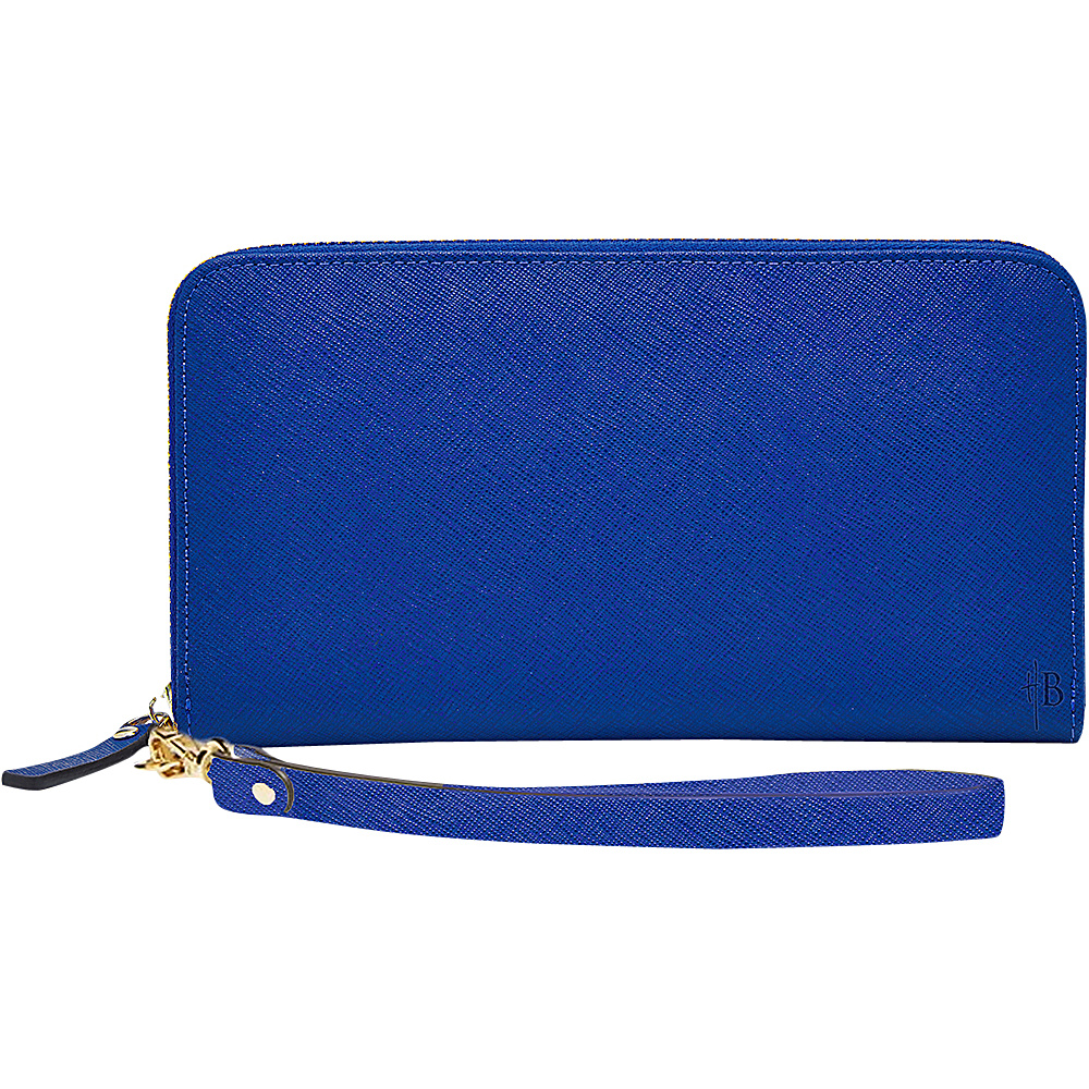HButler The Mighty Purse Phone Charging Zipper Wallet Electric Blue - HButler Ladies Clutch Wallets
