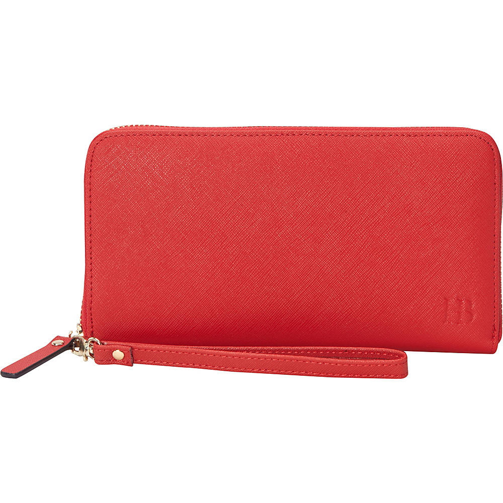 HButler The Mighty Purse Phone Charging Zipper Wallet Red - HButler Ladies Clutch Wallets