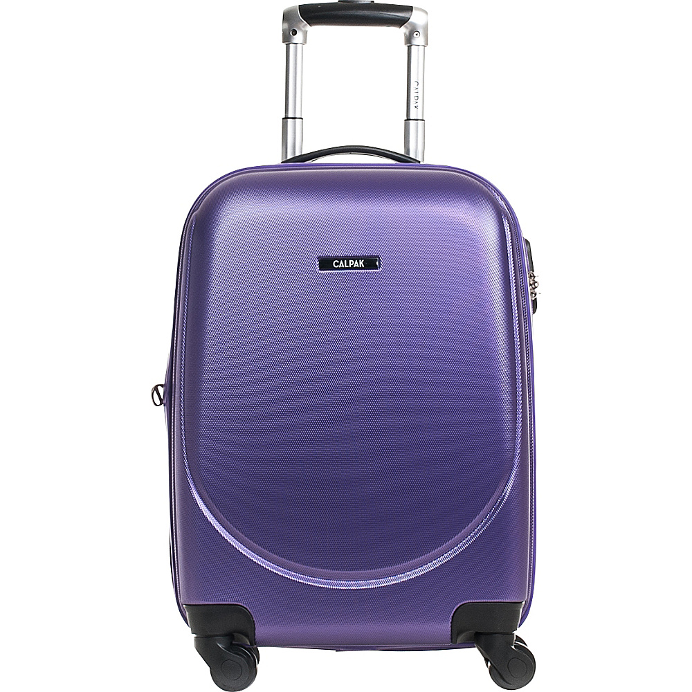 CalPak Valley 2 20 Carry on Lightweight Spinner Purple CalPak Softside Carry On