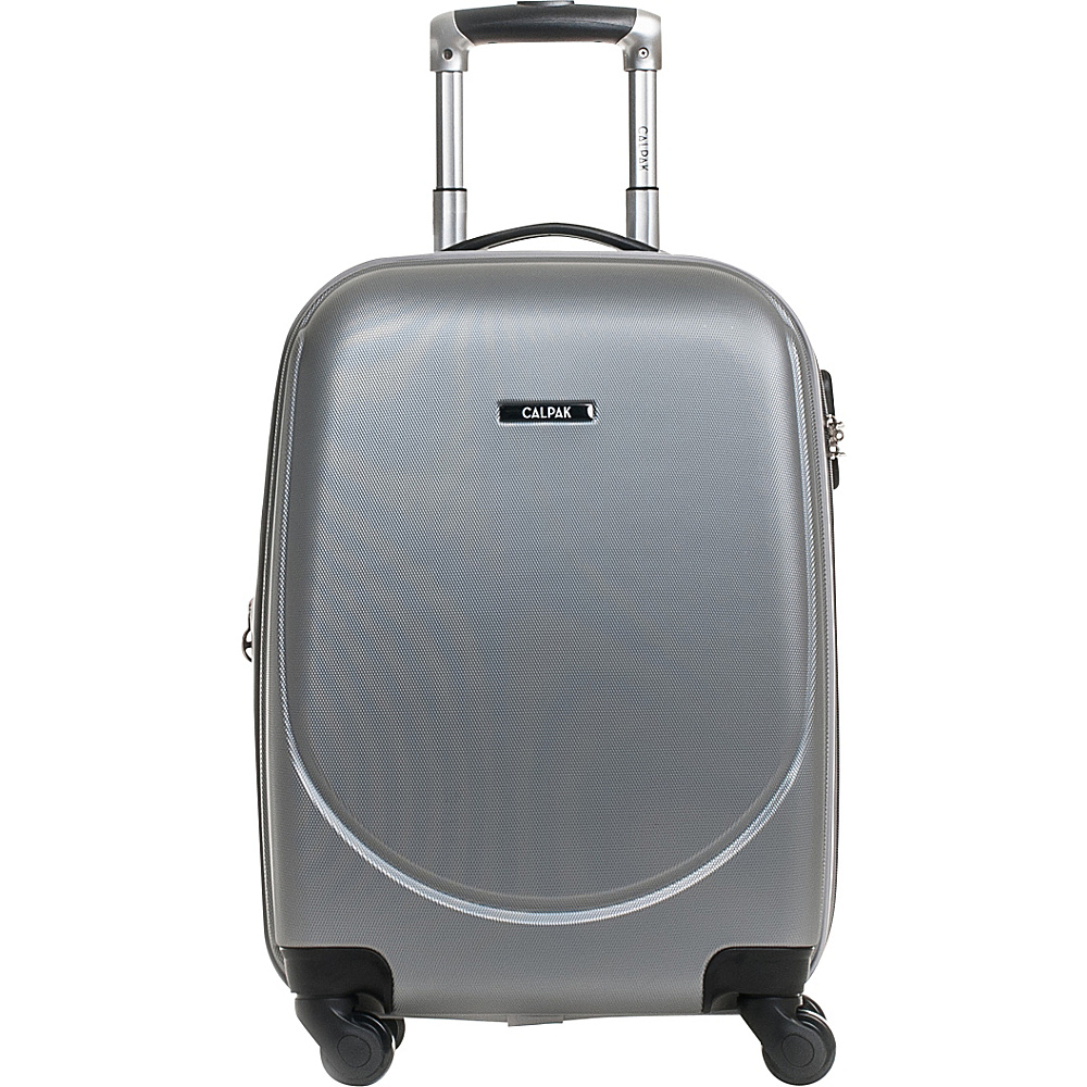 CalPak Valley 2 20 Carry on Lightweight Spinner Silver CalPak Softside Carry On