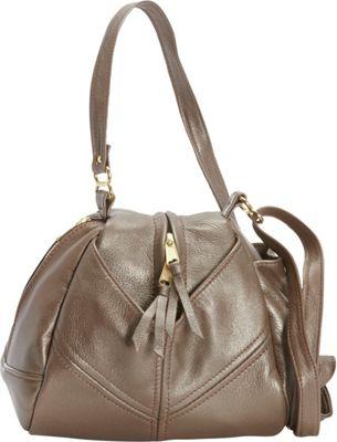 Victoria Leather Droplet Crossbody Platinum - Victoria Leather Leather Handbags