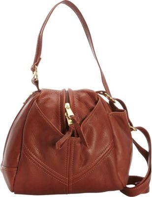 Victoria Leather Droplet Crossbody Cognac - Victoria Leather Leather Handbags