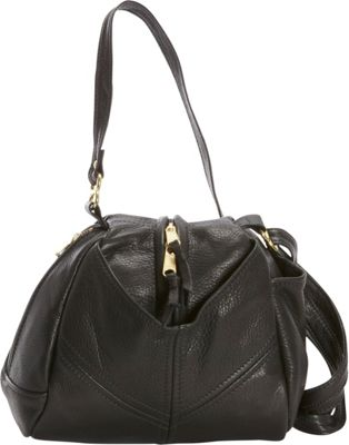 Victoria Leather Droplet Crossbody Black - Victoria Leather Leather Handbags