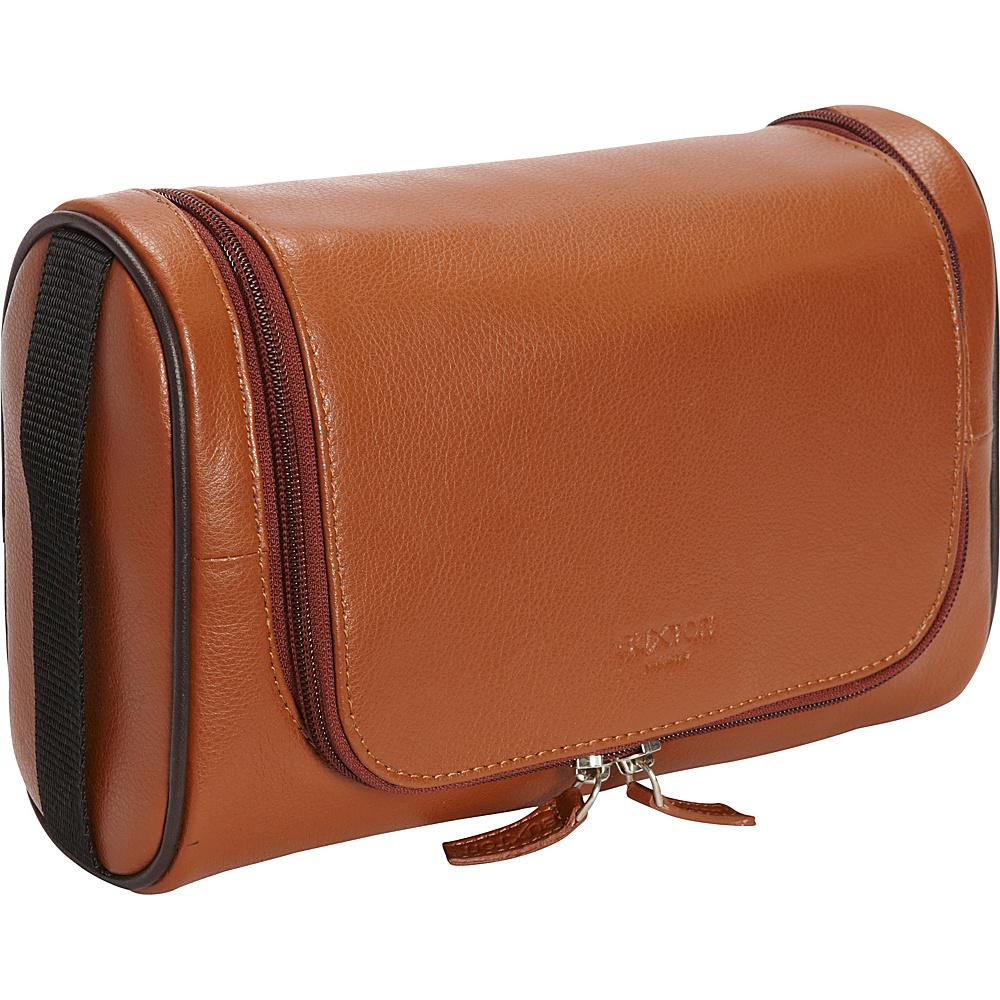 Buxton Addison U-Zip Hanging Travel Kit Cognac - Buxton Toiletry Kits - Travel Accessories, Toiletry Kits