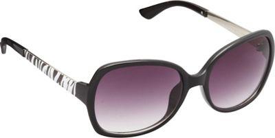 Unionbay Eyewear Rectangle Animal Print Glam Sunglasses Black Animal - Unionbay Eyewear Sunglasses
