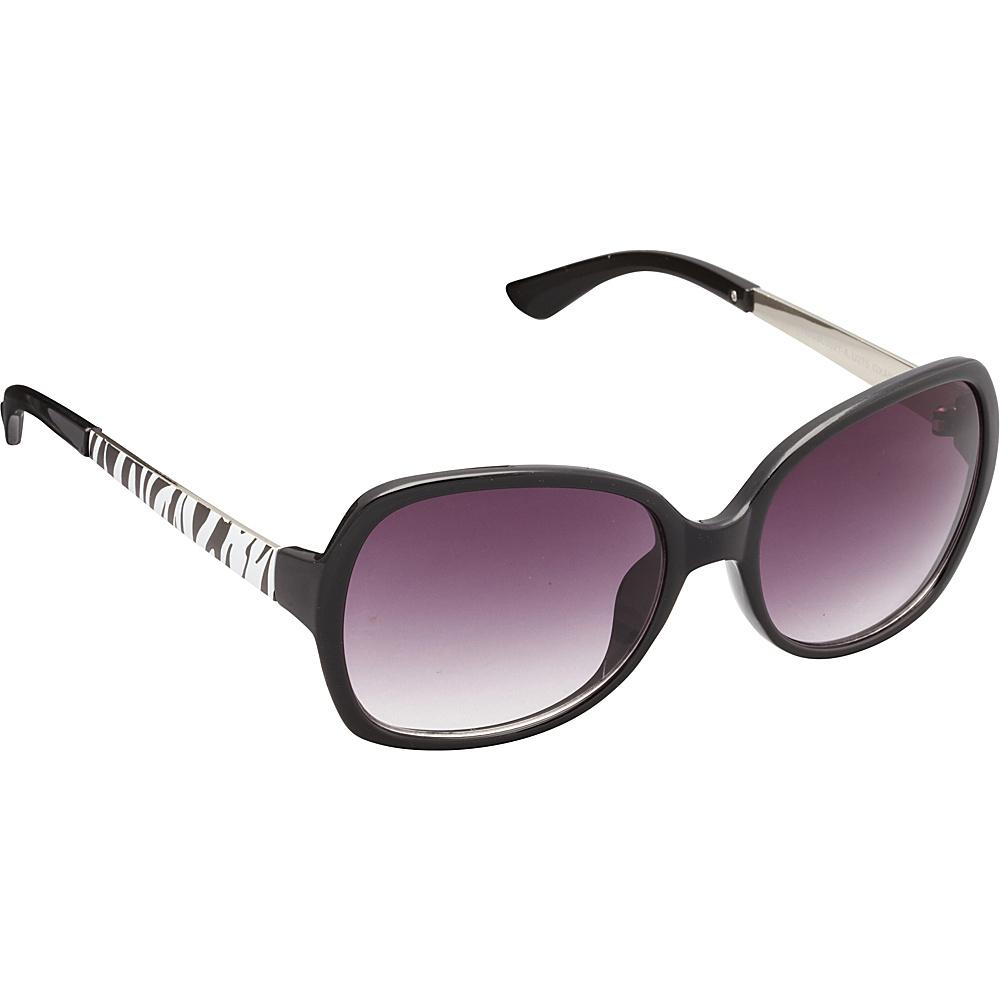 Unionbay Eyewear Rectangle Animal Print Glam Sunglasses Black Animal Unionbay Eyewear Sunglasses
