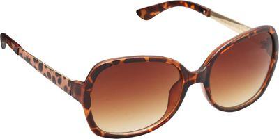 Unionbay Eyewear Rectangle Animal Print Glam Sunglasses Tortoise Animal - Unionbay Eyewear Sunglasses