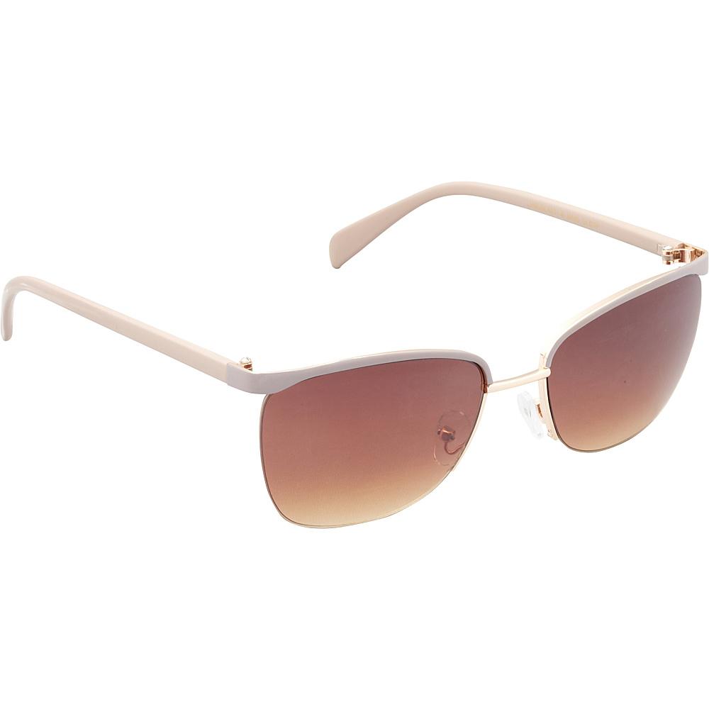 Unionbay Eyewear Metal Cat Eye Sunglasses Gold Taupe Unionbay Eyewear Sunglasses