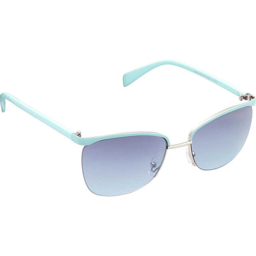 Unionbay Eyewear Metal Cat Eye Sunglasses Silver Aqua Unionbay Eyewear Sunglasses