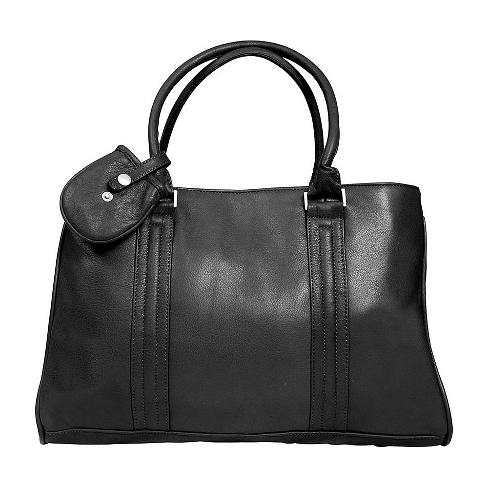 Canyon Outback Leather Dove Creek 17 inch Leather Laptop Briefcase Black Canyon Outback Non Wheeled Business Cases