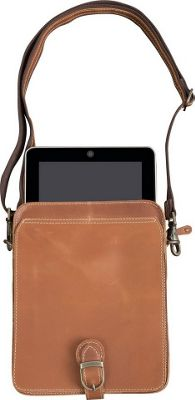 Canyon Outback Leather Niles Canyon Leather Media Bag Distressed Tan - Canyon Outback Messenger Bags