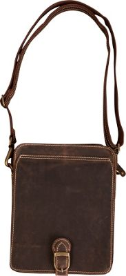 Canyon Outback Leather Niles Canyon Leather Media Bag Distressed Brown - Canyon Outback Messenger Bags