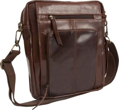 Canyon Outback Leather Monterey Canyon Leather Media Bag Brown - Canyon Outback Messenger Bags