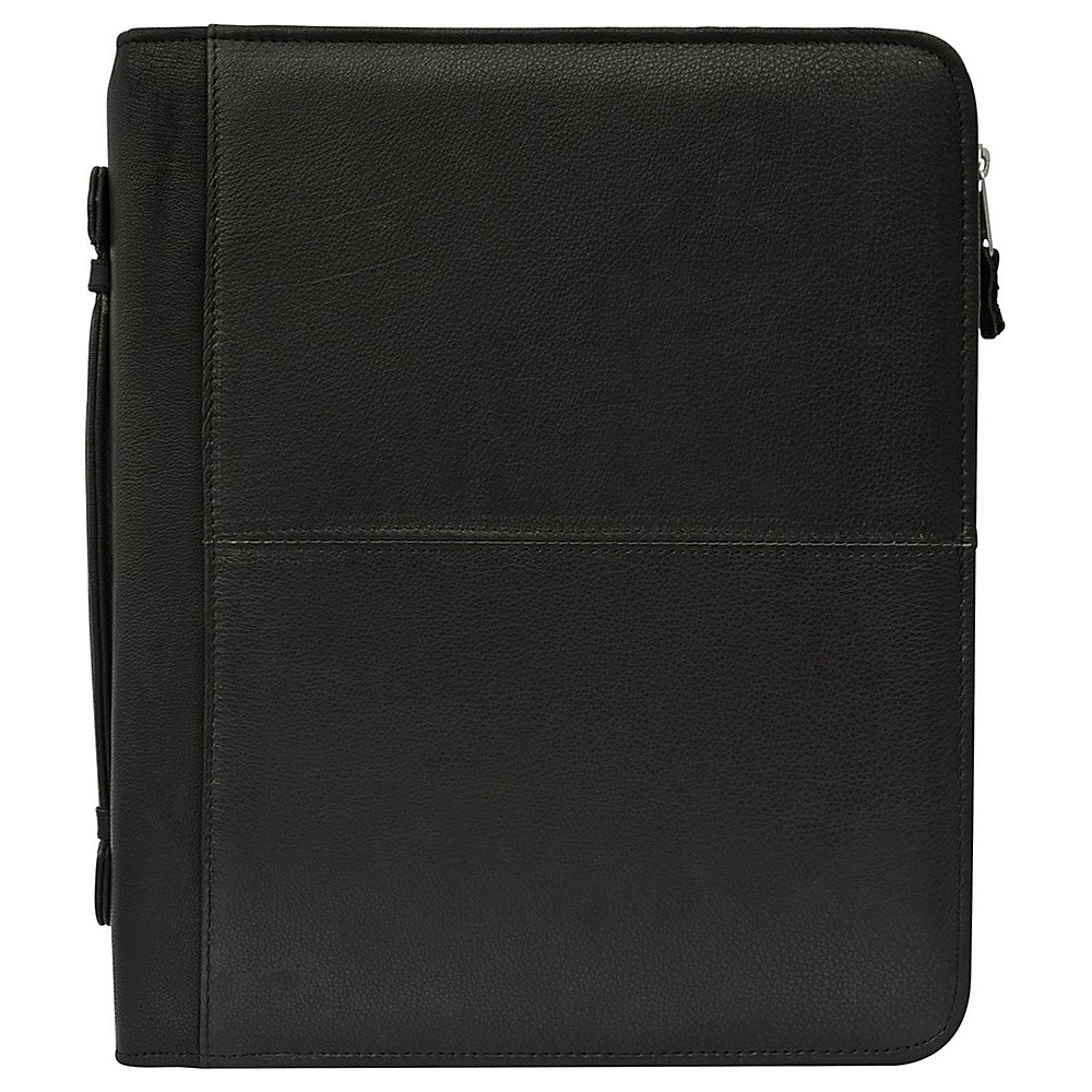 Canyon Outback Wolf Creek Three Ring Binder Leather Meeting Folder Black Canyon Outback Business Accessories